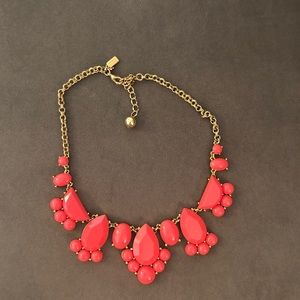 Kate Spade Statement Necklace Gold and Coral